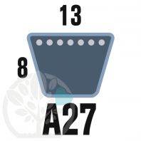 Courroie Trapézoïdale A27 Néoprène. 13mm x 736mm