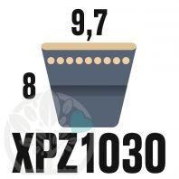 Courroie Trapézoïdale Crantée XPZ1030. 9,7mm x 1042mm ext.