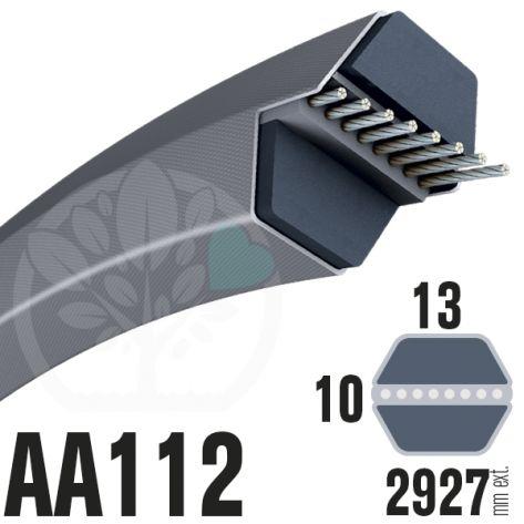 Courroie Héxagonale AA112 (6 côtés) 13mm x 2927mm