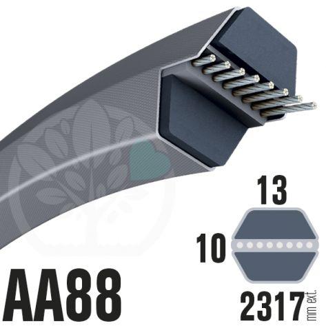 Courroie Héxagonale AA88 (6 côtés) 13mm x 2317mm