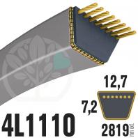 Courroie Trapézoïdale 4L1110 Renforcée Kevlar. 12.7mm x 2819mm