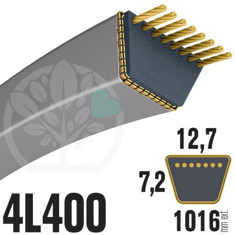 Courroie Trapézoïdale 4L400 Renforcée Kevlar. 12.7mm x 1016mm