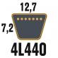 Courroie Trapézoïdale 4L440 Renforcée Kevlar. 12.7mm x 1118mm. Par 2