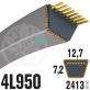 Courroie Trapézoïdale 4L950 Renforcée Kevlar. 12.7mm x 2413mm