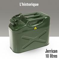 Jerrican métal. 10 litres.