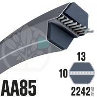 Courroie Héxagonale AA85 (6 côtés) 13mm x 2242mm