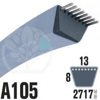 Courroie Trapézoïdale A105 Néoprène. 13mm x 2717mm