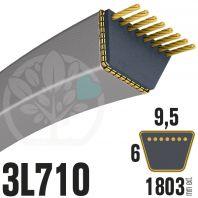 Courroie Trapézoïdale 3L710 Renforcée Kevlar. 9.5mm x 1803mm