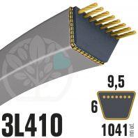 Courroie Trapézoïdale 3L410 Renforcée Kevlar. 9.5mm x 1041mm
