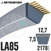 Courroie Mitsuboshi LA85 Renforcée.  12,7mm x 2178mm
