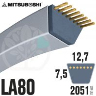 Courroie Mitsuboshi LA80 Renforcée.  12,7mm x 2051mm