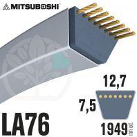 Courroie Mitsuboshi LA76 Renforcée.  12,7mm x 1949mm
