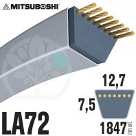 Courroie Mitsuboshi LA72 Renforcée.  12,7mm x 1847mm