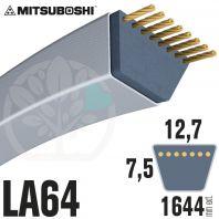 Courroie Mitsuboshi LA64 Renforcée.  12,7mm x 1644mm