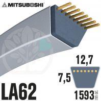 Courroie Mitsuboshi LA62 Renforcée.  12,7mm x 1593mm