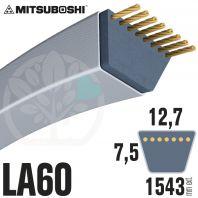 Courroie Mitsuboshi LA60 Renforcée.  12,7mm x 1543mm
