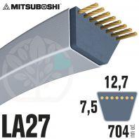 Courroie Mitsuboshi LA27 Renforcée.  12,7mm x 704mm