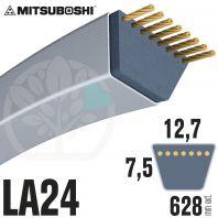 Courroie Mitsuboshi LA24 Renforcée.  12,7mm x 628mm