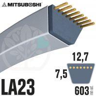 Courroie Mitsuboshi LA23 Renforcée.  12,7mm x 603mm