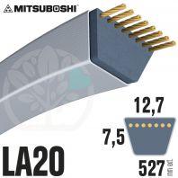 Courroie Mitsuboshi LA20 Renforcée.  12,7mm x 527mm
