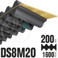 Courroie Double Denture 1600-DS8M20 (200dents) 1600mmx20mm