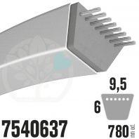 Courroie MTD Spécifique 7540637. 9,5mm x 780mm