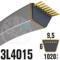 Courroie Trapézoïdale 3L4015 Renforcée Kevlar. 9.5mm x 1020mm