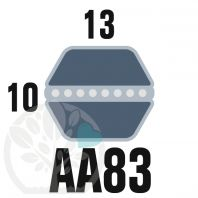 Courroie Héxagonale AA83 (6 côtés) 13mm x 2191mm