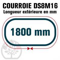 Courroie Double Denture 1800-DS8M16 (225dents) 1800mmx16mm