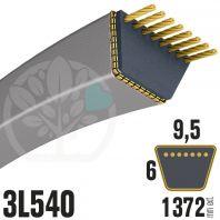 Courroie Trapézoïdale 3L540 Renforcée Kevlar. 9.5mm x 1372mm