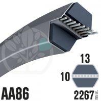 Courroie Héxagonale AA86 (6 côtés) 13mm x 2267mm