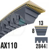 Courroie Trapézoïdale Crantée AX110 Néoprène. 13mm x 2844mm