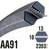 Courroie Héxagonale AA91 (6 côtés) 13mm x 2393mm